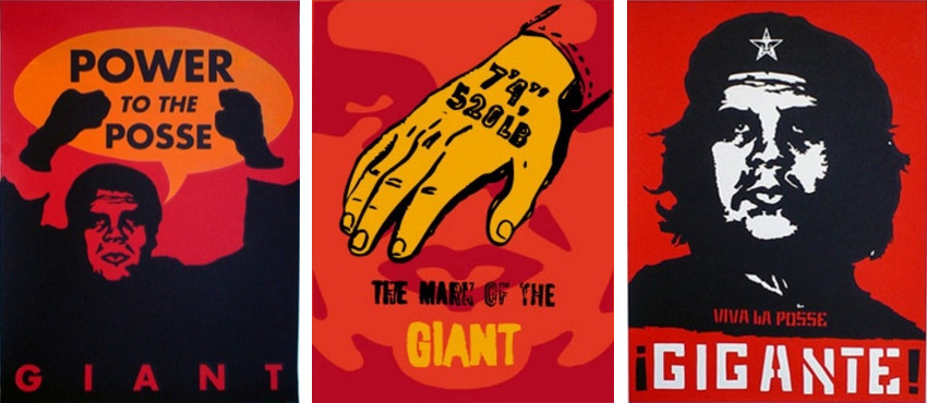 Shepard Fairey - Giant Power to the Pose, 1996 - Mark of the Giant, 1997 - Che, 1997
