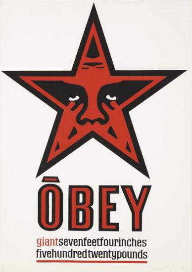Shepard Fairey-Giant Star Obey-1996