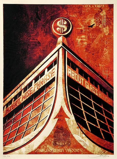 Shepard Fairey-Glass House Canvas-2010