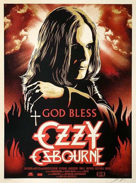 Shepard Fairey-God bless Ozzy Osbourne-2011
