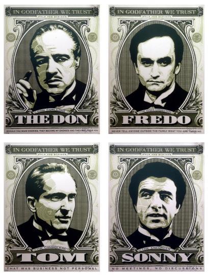 Shepard Fairey-Godfather Set: The Don/Sonny/Fredo/Tom-2006