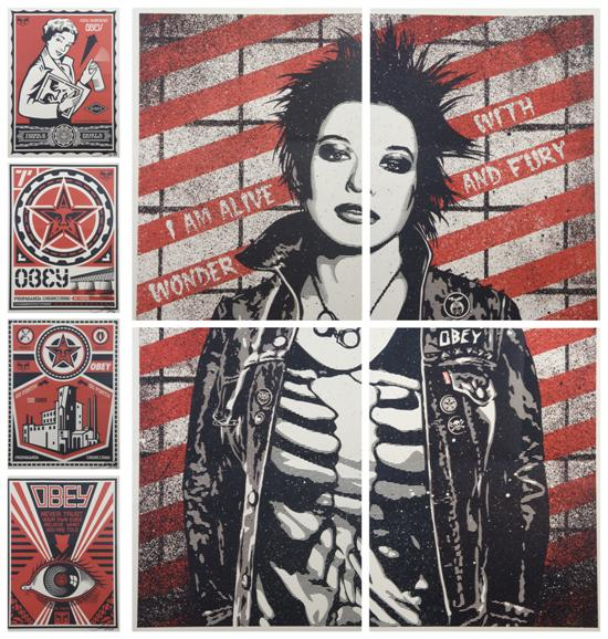Shepard Fairey-Four Works (From the Obey Series)-2009