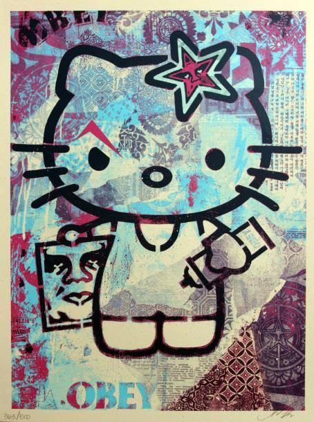 Shepard Fairey-Hello Kitty-2012