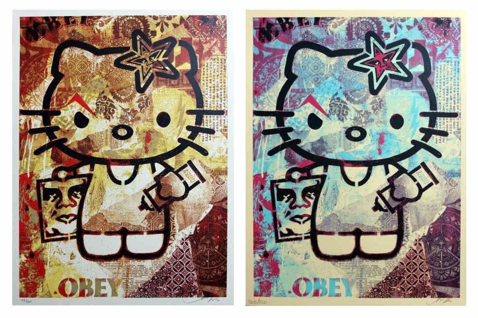 Shepard Fairey-Hello Kitty Set-2012