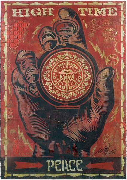 Shepard Fairey-High Time for Peace Stencil-2006