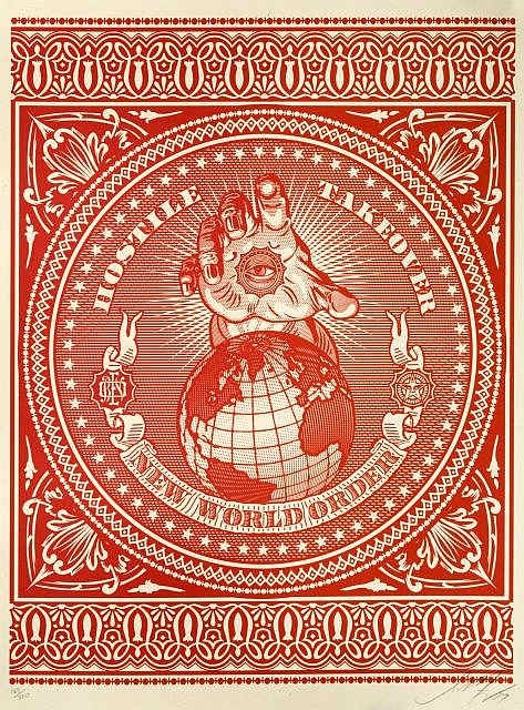 Shepard Fairey-Hostile Takeover-2007
