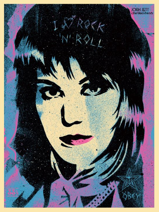 Shepard Fairey-I love rock 'n' roll-2015