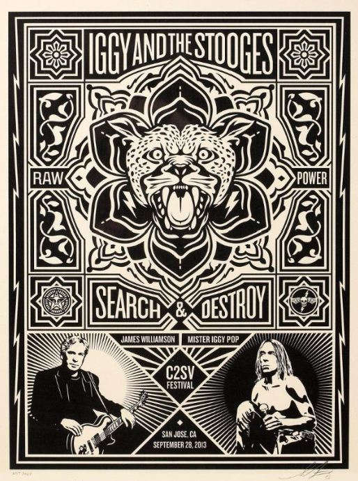 Shepard Fairey-Iggy and the Stooges-2013