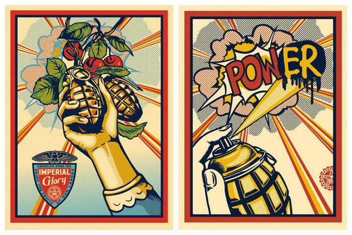 Shepard Fairey-Imperial Glory/Pow(er)-