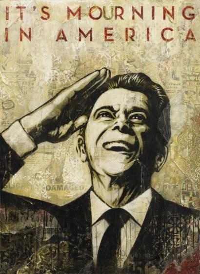 Shepard Fairey-It's Mourning In America-2011