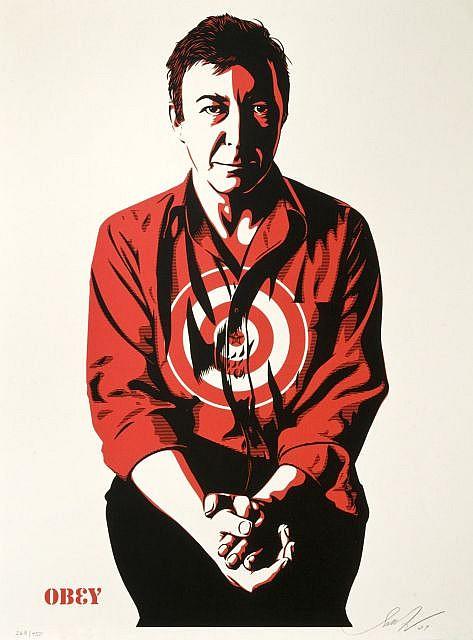 Shepard Fairey-Jasper Johns (Cream Edition)-2009