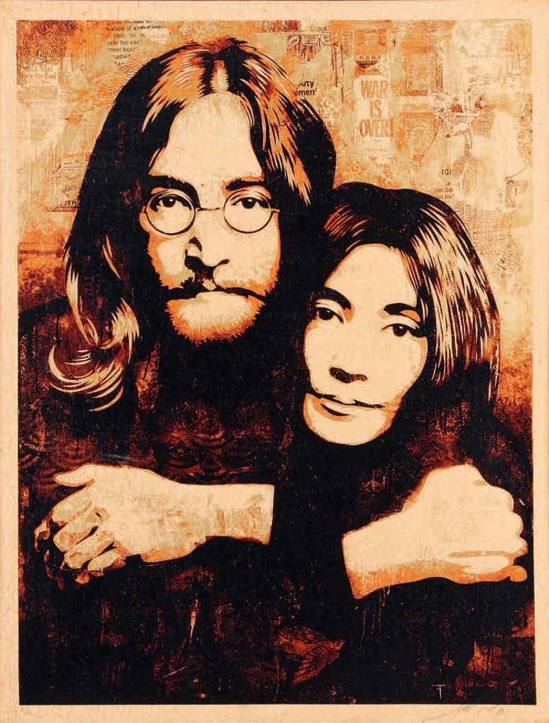 Shepard Fairey-John and Yoko-2010