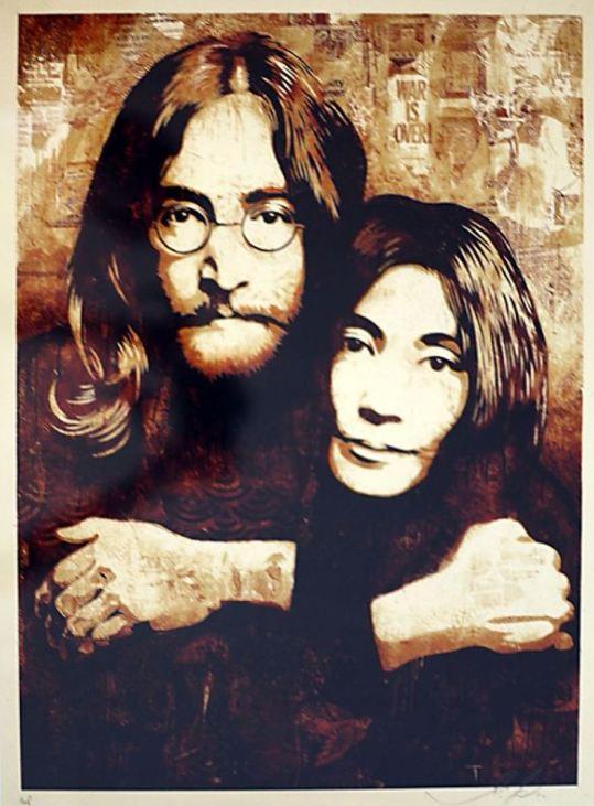 Shepard Fairey-John & Yoko-