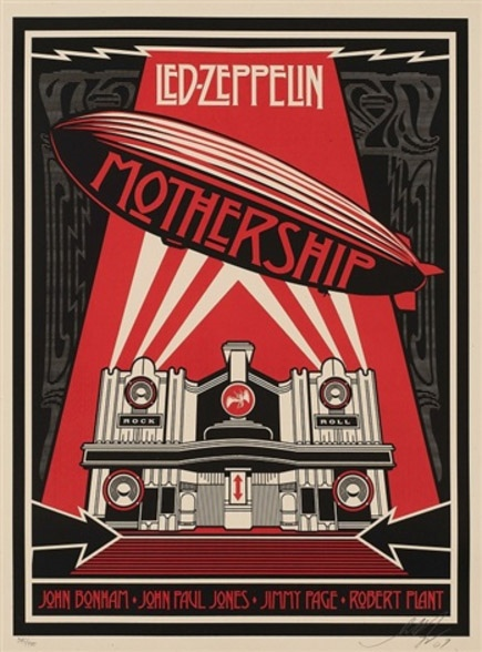 Shepard Fairey-Led Zeppelin Mothership-2007