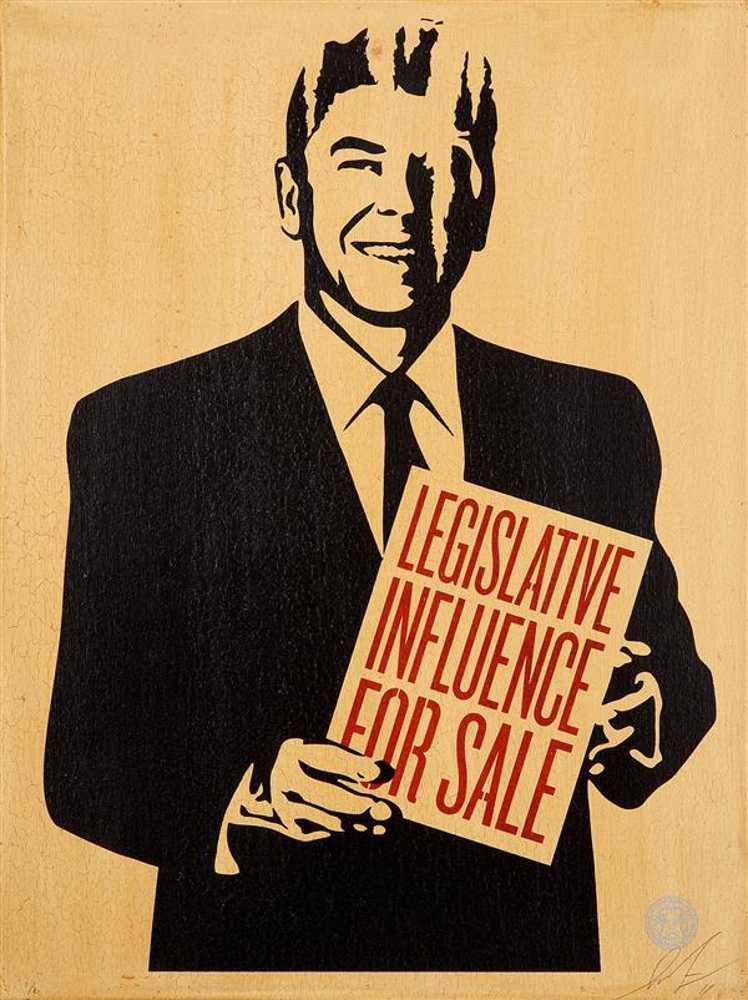Shepard Fairey-Legislative Influence For Sale-2011