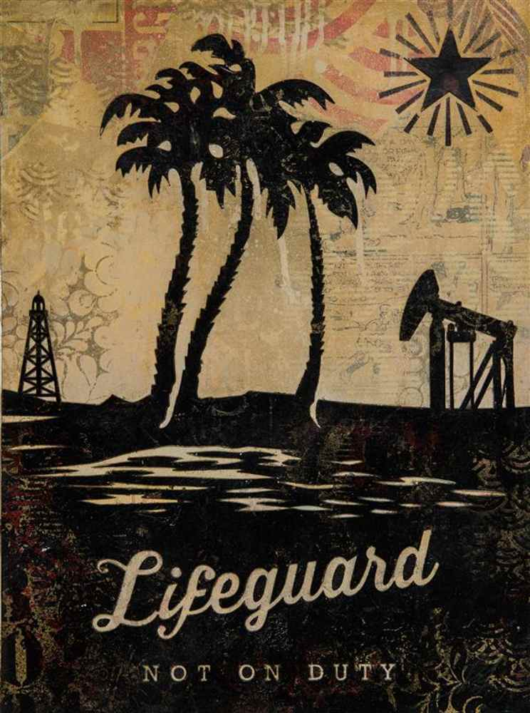 Shepard Fairey-Lifeguard not on duty-2011