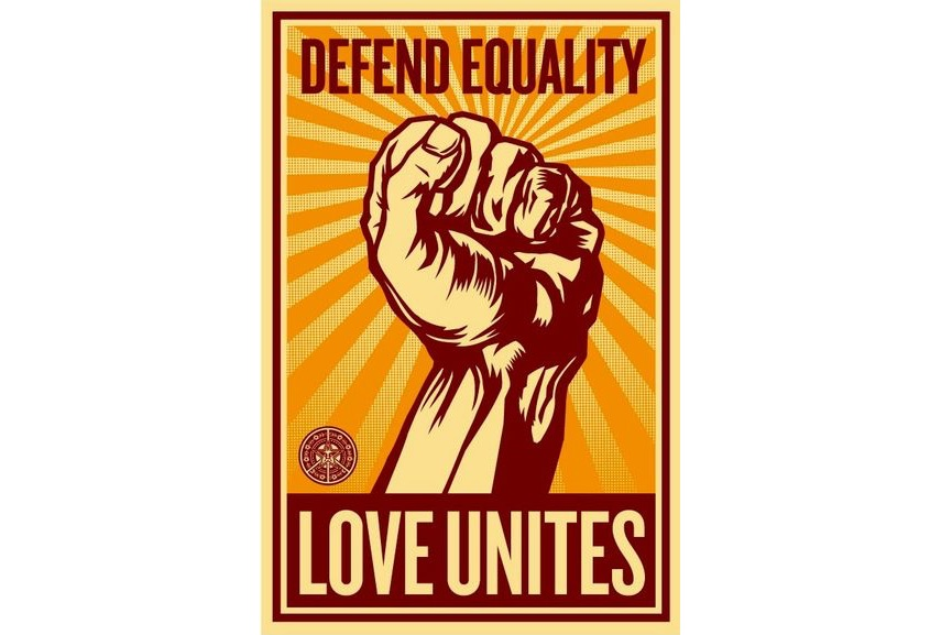 Shepard Fairey - Love Unites, 2008; among ideas for valentines day