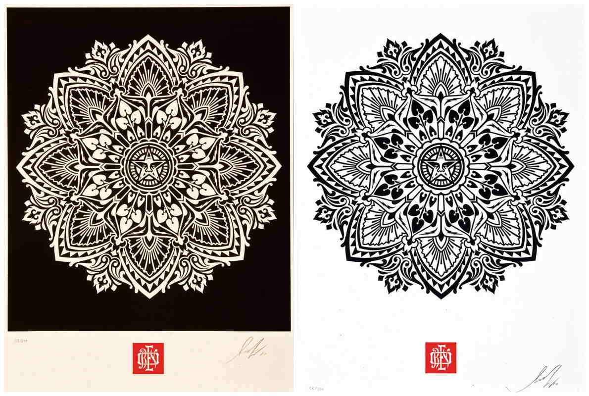 Shepard Fairey-Mandala Ornament Set-2010