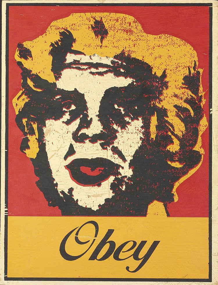 Shepard Fairey-Marilyn/Andre the Giant-2000