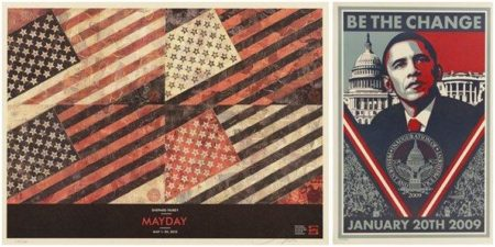 Shepard Fairey-May Day/Be the Change-