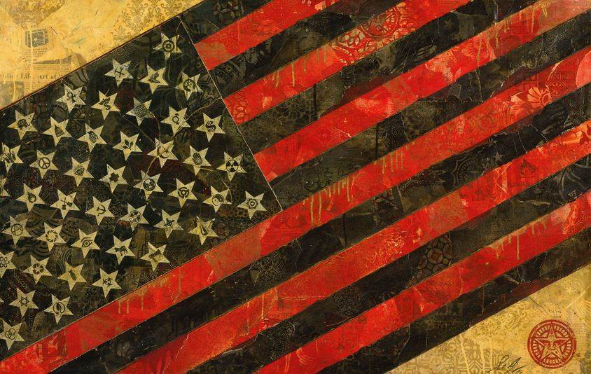 Shepard Fairey-May Day Flag 2-