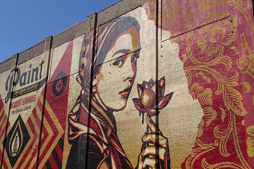 Shepard Fairey widest mural mana contemporary detroit largest detroit
