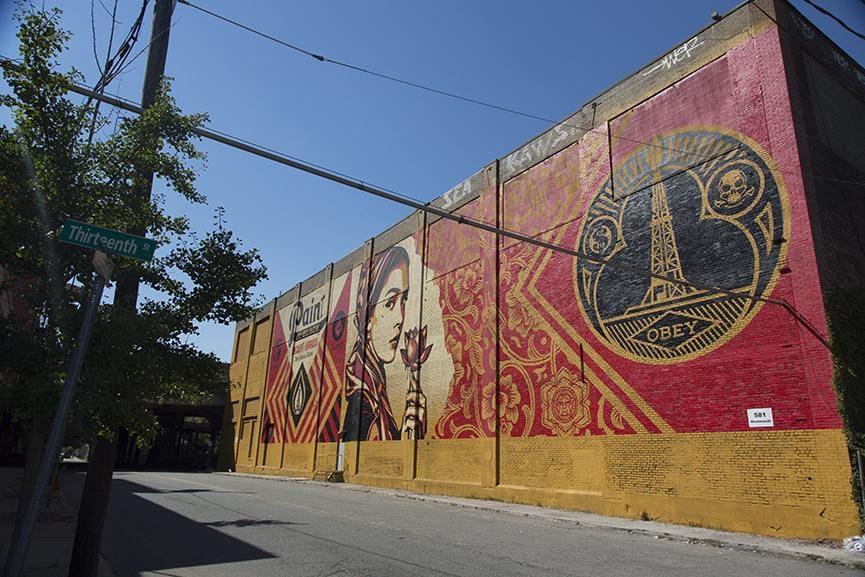 Shepard Fairey widest mural mana contemporary 2015 detroit largest date detroit