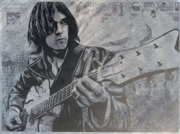 Shepard Fairey-Neil Young Canvas-2010