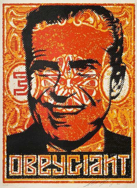 Shepard Fairey-Nixon Stamp-2001