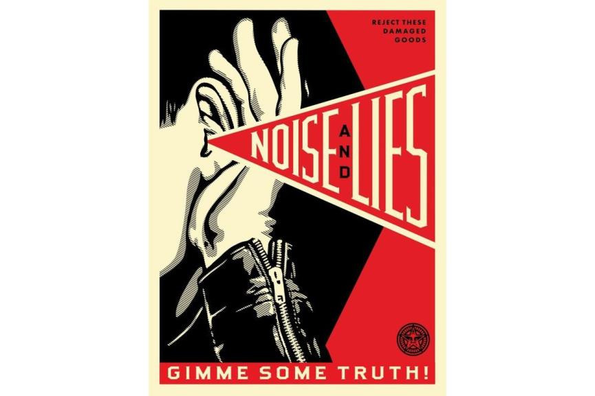 Shepard Fairey - Noise Lies Red