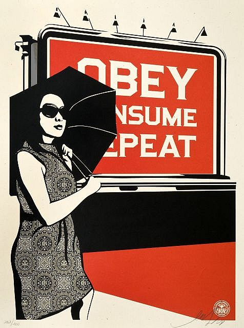 Shepard Fairey-Obey Billboard (Consume)-2008