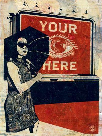 Shepard Fairey-Obey Billboard (Eye)-2008