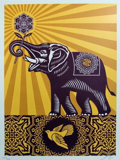 Shepard Fairey-Obey Elephant Gift-2011
