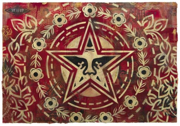 Shepard Fairey-Obey Flower (Giant Star Peace)-2005