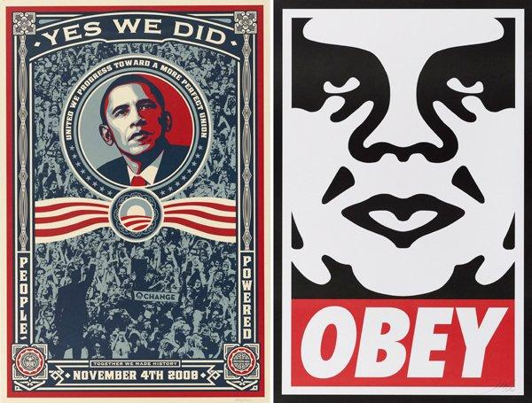 Shepard Fairey-Obey Icon / Yes We Did-