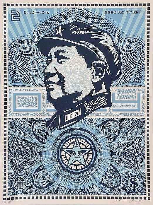 Shepard Fairey-Obey (Mao Money)-2003