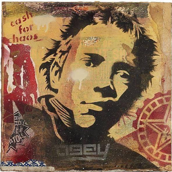 Shepard Fairey-Obey Rotten Album Stencil-2004