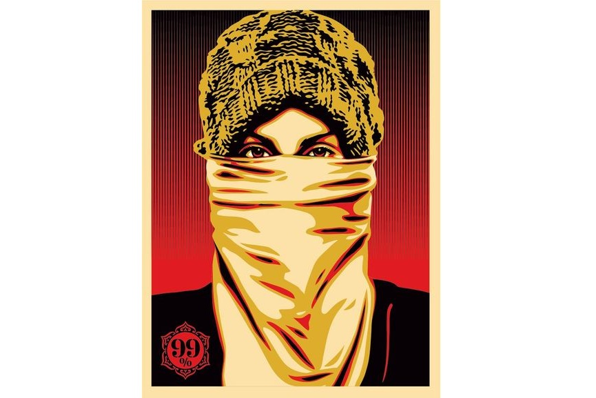Shepard Fairey Occupy Protester