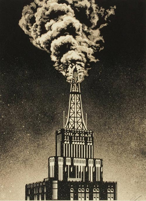 Shepard Fairey-Oil & Gas Building-