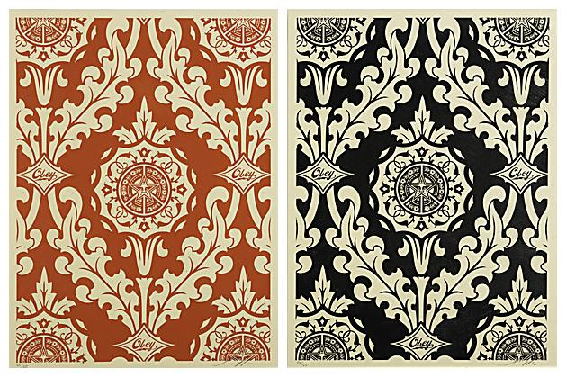 Shepard Fairey-Parlor Patterns (Cream Set)-2010