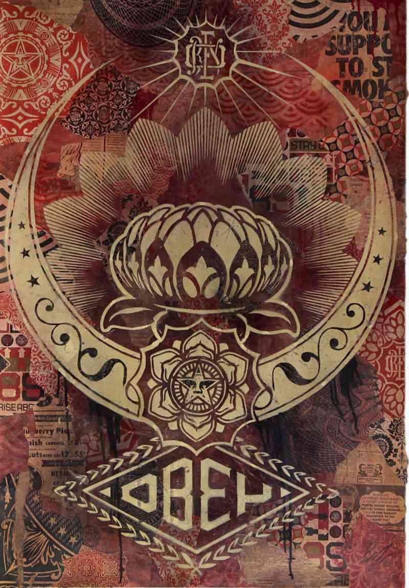 Shepard Fairey-Peace Lotus-2008