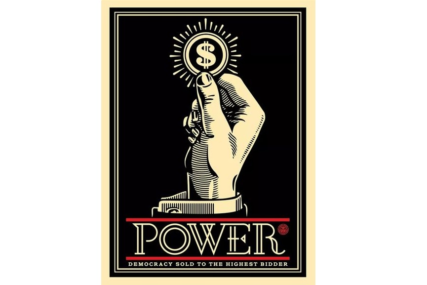 Shepard Fairey Power Bidder