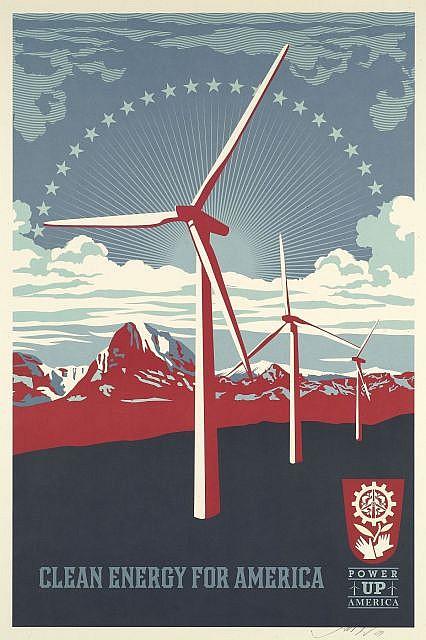 Shepard Fairey-Power up Windmill-2009