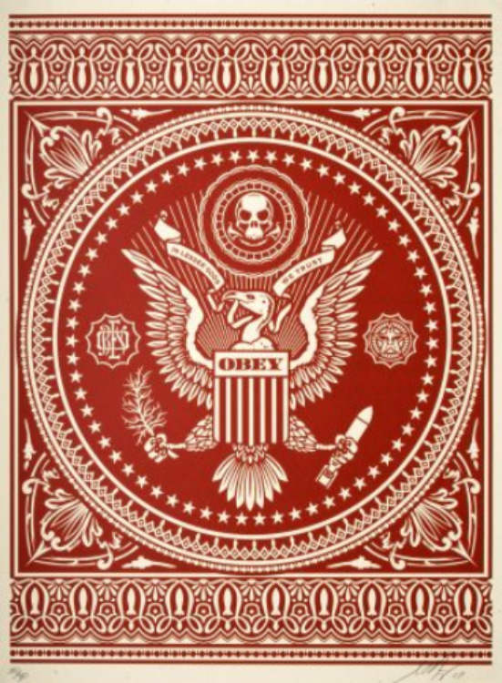Shepard Fairey-Presidential Seal (Red)-2007
