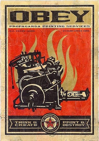 Shepard Fairey-Print & Destroy, from 20th Anniversary Edition-2009