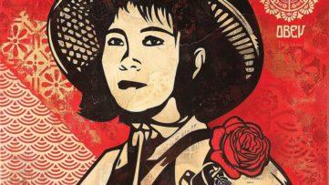Shepard Fairey - Revolution Woman, 2005 (detail)