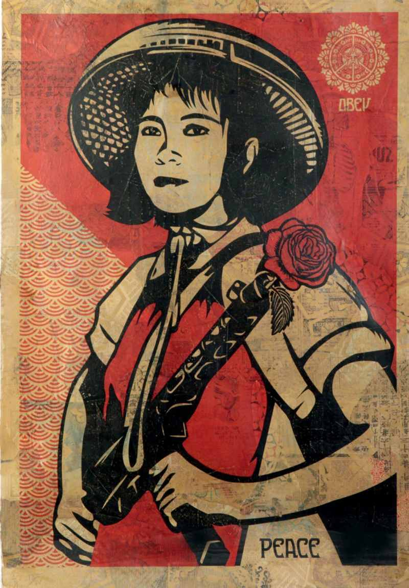 Shepard Fairey-Revolution Woman-2005