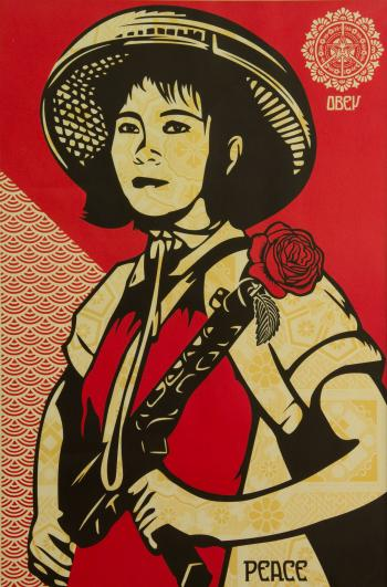 Shepard Fairey-Revolution Woman-2005