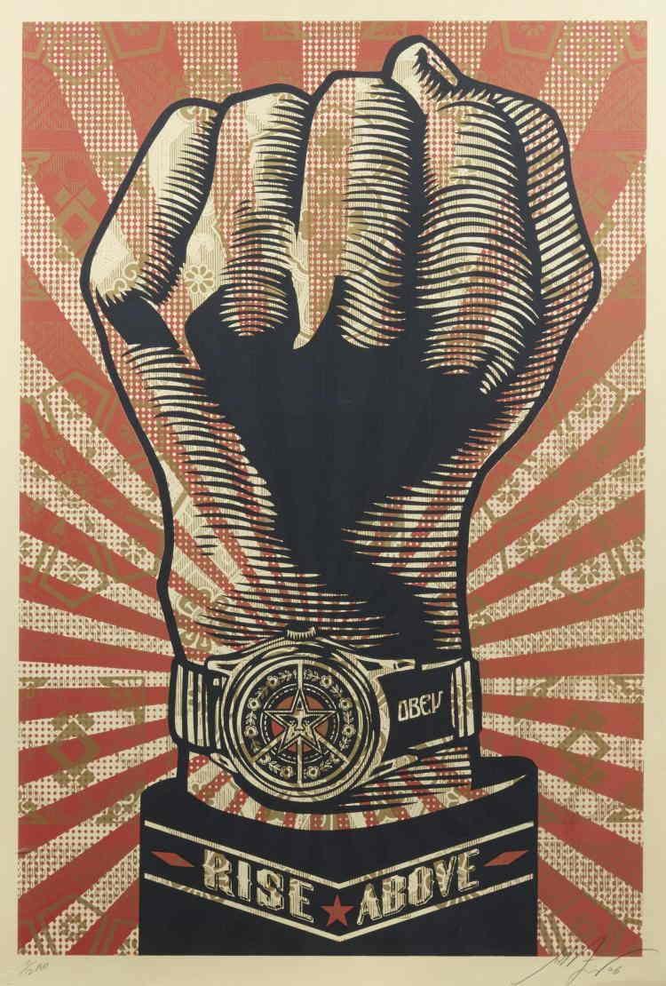 Shepard Fairey-Rise Above Fist-2006