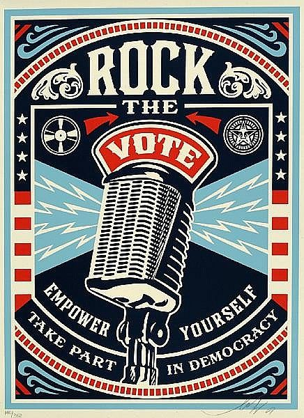 Shepard Fairey-Rock the Vote-2008